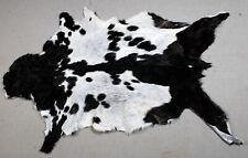 "New Goat hide Rug Hair on Area Rug Size 34""x24"" Animal Leather Goat Skin U-9555"