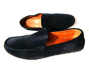 WOLF & SHEPERD US 11.5M Dark Blue Suede Slip On Loafer Shoes PORTUGAL