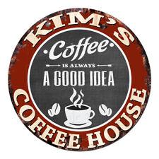 CPCH-0118 KIM'S COFFEE HOUSE Chic Tin Sign Decor Gift Ideas