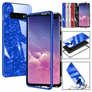 For Samsung Galaxy S10 S9+ S8 S7 Shockproof Magnetic 360 Bumper Case Slim Cover