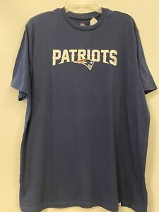 New England Patriots Majestic Mens  T-Shirt  NEW XL