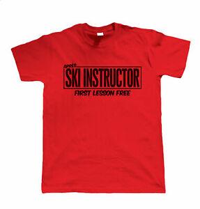 Apres Ski Instructor, Funny Mens Skiing T Shirt
