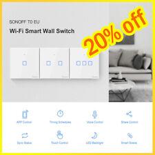 """Sonoff T0US1C-TX 1/2/3 Gang inteligente Wi-Fi Interruptor del panel de pared de luz control de la aplicación"""""""