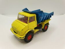 CORGI Mercedes-Benz Unimog 406 - Tipper dump truck / Yellow - blue colour