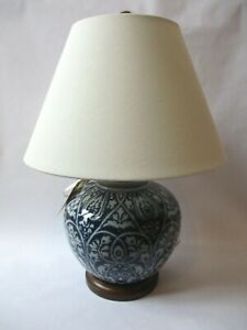 Ralph Lauren Porcelain Mandarin Blue & White Floral Ginger Jar Table Lamp New