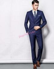 Hot Sale Mens 3 Pieces Suits Coat Vest Pant Slim Fit Lapel Wedding Fromal Blazer