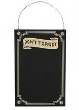 Don't Forget Cream Border Chalk Memo Notice Black Board Vintage Shabby Chic