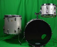 LUDWIG Silver Sparkle Drums Vintage Ludwig Drum set 1960s Ludwig Keystone Badge