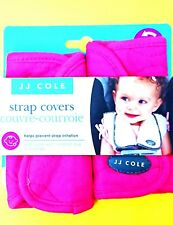 NEW! JJ Cole Baby Car Seat Strap Covers Couvre-Courroie Protect Pink Soft Plush