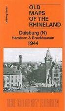 OLD ORDNANCE SURVEY MAP DUISBURG NORTH HAMBORN & BRUCKHAUSEN 1944
