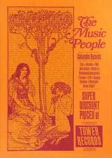 1971 Tower Records Sunset Telephone Pole Poster Columbia The Music People