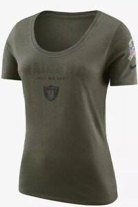 *NEW* Nike Sz M Womens Oakland Raiders Salute To Service T-Shirt 938812-395