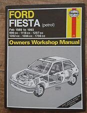 FORD FIESTA MKIII FEB 1989-1993 HAYNES MANUAL PETROL MODELS  INCLUDING XR2 & RS