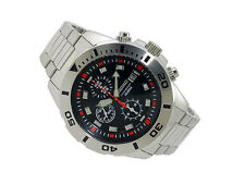 Seiko SNDD95P1 Chronograph Black Dial Stainless Steel Mens Watch.