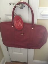 Estee Lauder Weekend Travel Bag Red Maroon Pvc New