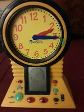 Learning Resources Clever Clock /Talking clock/problem solver 14 inches Tall