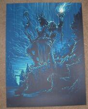 DAN MUMFORD poster art print COLOSSUS OF RHODES seven ancient wonders