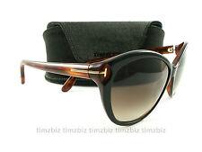 New Tom Ford Sunglasses TF325 Telma 03F Black Havana FT0325/S Authentic