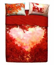 Completo Lenzuola / Copriletto Matrimoniale Love Is Hearts Cuore Rosso Bassetti