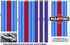 Le Mans Martini Racing style Stripe and Logo Porsche 911 Sticker decal A648LG
