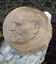 German Pope Saint John Paul II Karol Wojtyła XL BRONZE Relief Wall Plate