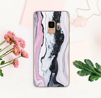 Mineral Samsung S9 S10 Plus Rubber Cover Cracked Stone Samsung Galaxy Note 8 9