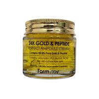 [FARM STAY] 24K Gold & Peptide Perfect Ampoule Cream 80ml