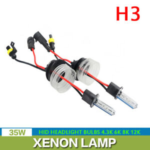 2X 35W H3 Xenon HID Headlight Bulbs Kit Conversion 4300K 6000K 8000K 12000K Lamp