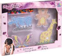 Happy People Bügelperlen Set 2000 Perlen Tierschablone Spiel Kinder Kreativ bunt