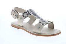 Frye Felix Sling 71652 Mujer Blanco Charol Sandalias Zapatos De Correa De Cuero