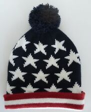 83472ccac58 Old Navy Stars   Stripes Red White Blue American Flag Beanie Pompom One  Size Hat