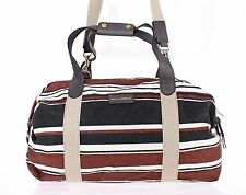 NEW $1300 DOLCE & GABBANA Multicolor Linen Leather Travel Gym Hand Shoulder Bag