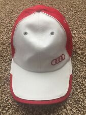 Audi Baseball Hat Men's Baseball Cap Red and White Cotton Embroidered