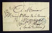1833 France lettre PARIS Contreseing 4me Mairie en Noir AA43