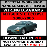 OFFICIAL WORKSHOP Service Repair MANUAL MITSUBISHI ECLIPSE 2000-2005 +WIRING