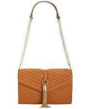 INC Yvvon Faux Leather Textured Crossbody Handbag Saddle Purse - $99.50 - NWT
