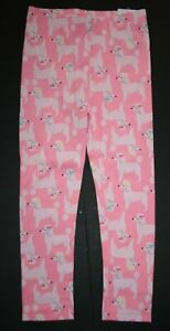 New Carter's Girls 3T year Full Length Leggings Pants Pink Poodle Puppy Dogs