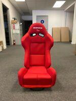 SINGLE (1) BRIDE GIAS V1 RED PLAIN LOW MAX Pair Reclining Mechanism RACING SEAT