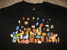 Pharrell Williams T Shirt Black - I Am Other - Happy Food - Size L Large