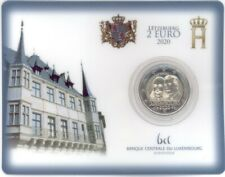 2 Euro Coincard Luxemburg 2020 Prinz Henri von Oranien-Nassau MZ Löwe / Lion