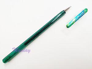 4 x Pentel K110 Hybrid Dual Metallic Gel Pen 1.0mm Broad, GREEN + M.BLUE