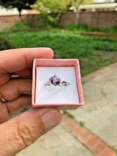 ALEXANDRITE SOLITAIRE SOFT COLOR CHANGE 10K SOLID WHITE GOLD RING