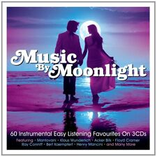 MUSIC BY MOONLIGHT 3 CD Ferrante & Teicher, Santo & Johnny, Baxter, Les  NEW+