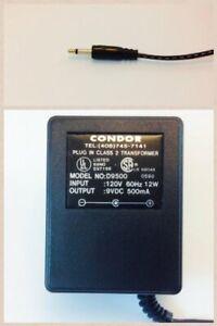 AC-DC Adapter 9VOLT DC @ 500mA 3.5mm Mini Plug