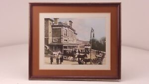 Vintage Framed Coloured Photograph Chelmsford Railway Station FREE UK P&P