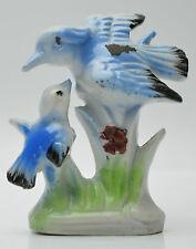 ceramic porcelain bird figurine blue Japan