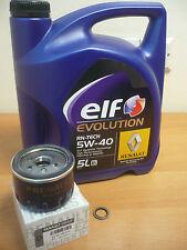 Genuine Renault Clio Sport 172 182 2.0 16v 5Ltr Elf Oil, Sump Washer ,Oil Filter