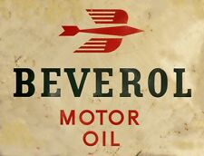 """TIN SIGN """"Beverol"""" Motor """" Gas-Oil Games Signs  Rustic Wall Decor"""