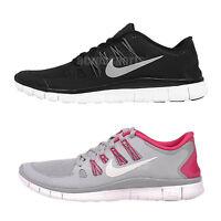 Nike Wmns Free 5.0 Run Womens Running Shoes Trainers Black Grey