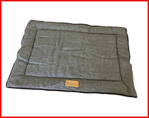 Ellie-Bo Reversible Tweed and Grey Faux Fur Mat Bed for Large 36 inch Dog Puppy